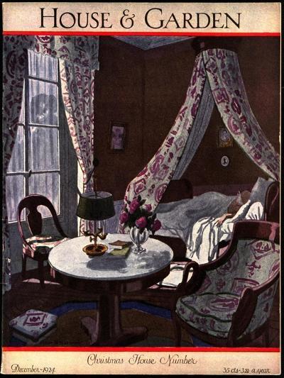 House & Garden Cover - December 1924-Pierre Brissaud-Premium Giclee Print