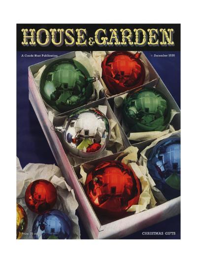 House & Garden Cover - December 1936-Anton Bruehl-Premium Giclee Print