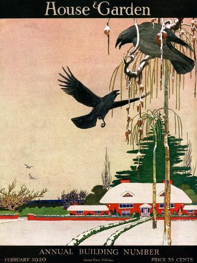 House & Garden Cover - February 1920-Charles Livingston Bull-Premium Giclee Print