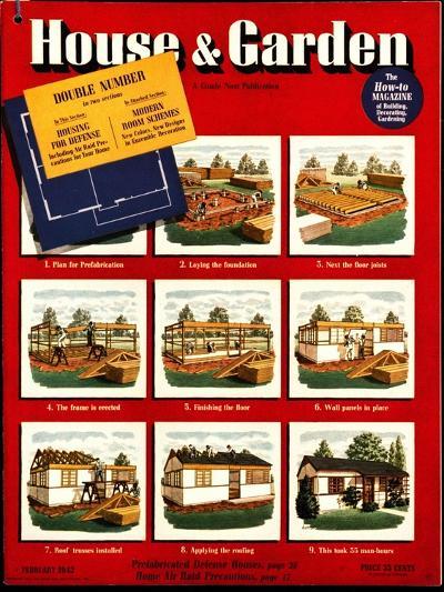 House & Garden Cover - February 1942-Robert Harrer-Premium Giclee Print