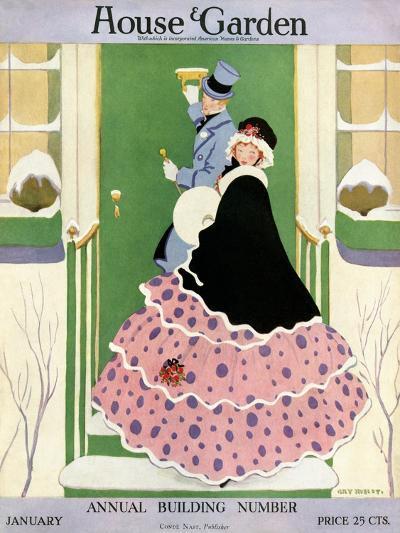 House & Garden Cover - January 1916-L. M. Hubert-Premium Giclee Print
