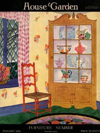 House & Garden Cover - January 1919-Helen Dryden-Premium Giclee Print