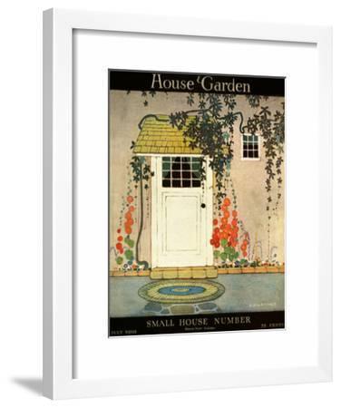 House & Garden Cover - July 1919-Brandt H\. George-Framed Art Print
