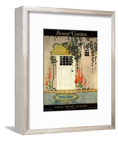 House & Garden Cover - July 1919-H. George Brandt-Framed Premium Giclee Print