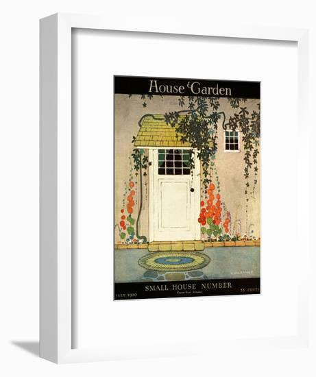 House & Garden Cover - July 1919-H. George Brandt-Framed Premium Giclee Print