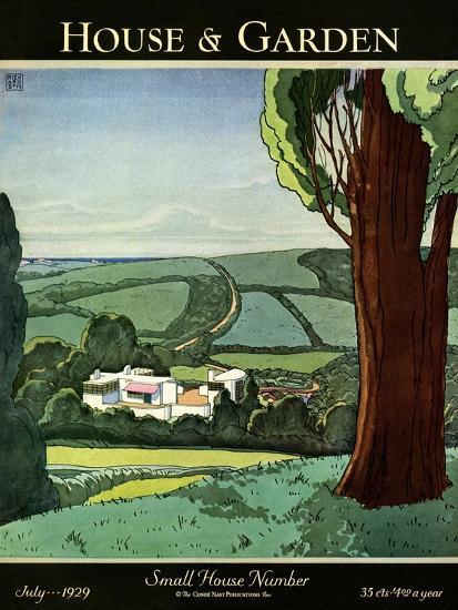 House & Garden Cover - July 1929-Harry Richardson-Premium Giclee Print