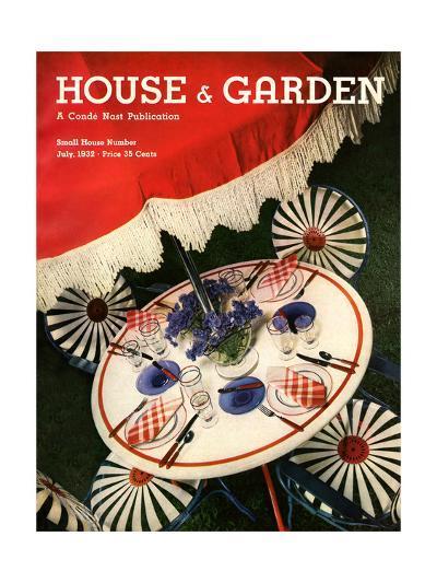 House & Garden Cover - July 1932-Anton Bruehl-Premium Giclee Print