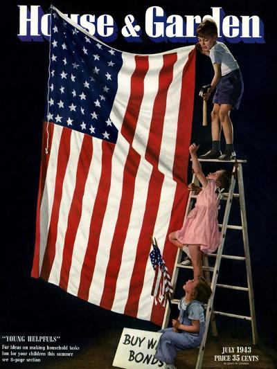 House & Garden Cover - July 1943-Gjon Mili-Premium Giclee Print
