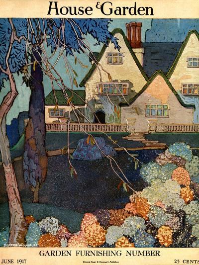 House & Garden Cover - June 1917-Porter Woodruff-Premium Giclee Print