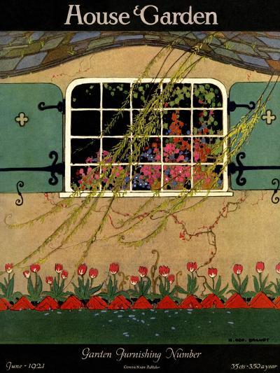 House & Garden Cover - June 1921-H. George Brandt-Premium Giclee Print