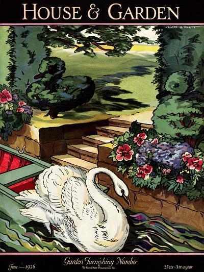 House & Garden Cover - June 1926-Joseph B. Platt-Premium Giclee Print