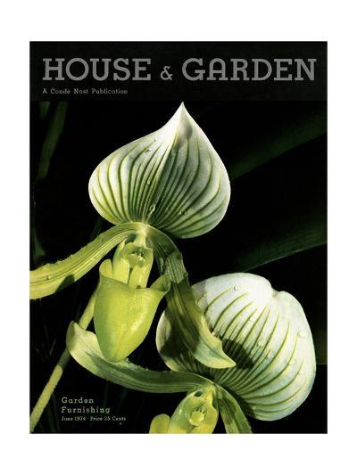 House & Garden Cover - June 1934-Anton Bruehl-Premium Giclee Print