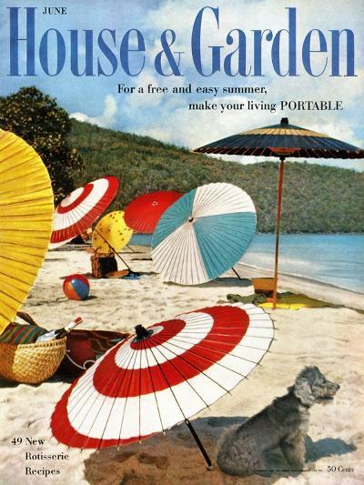 House & Garden Cover - June 1957-Otto Maya & Jess Brown-Premium Giclee Print