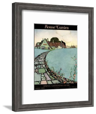 House & Garden Cover - March 1920-Harry Richardson-Framed Premium Giclee Print