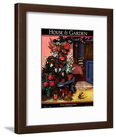 House & Garden Cover - March 1926-Joseph B. Platt-Framed Premium Giclee Print