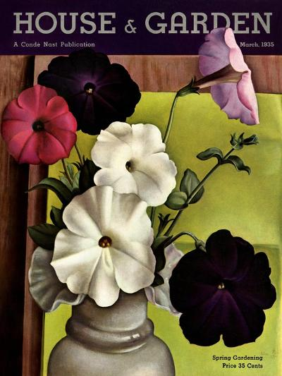 House & Garden Cover - March 1935-Edna Reindel-Premium Giclee Print