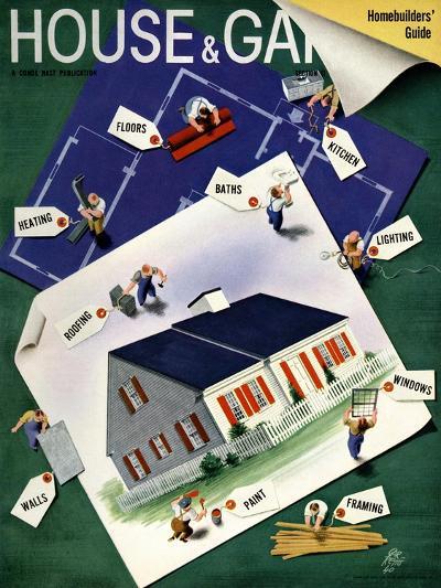 House & Garden Cover - March 1940-Garretto-Premium Giclee Print