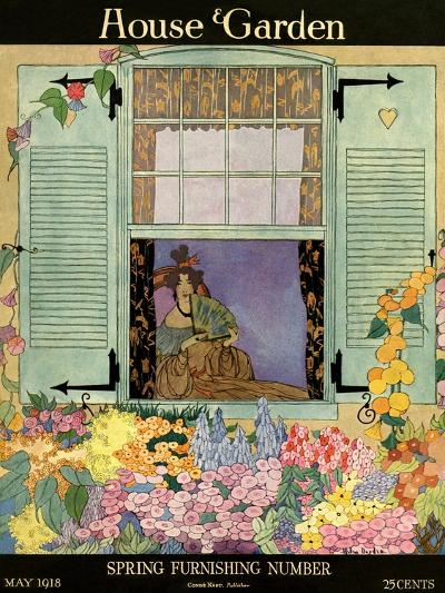 House & Garden Cover - May 1918-Helen Dryden-Premium Giclee Print