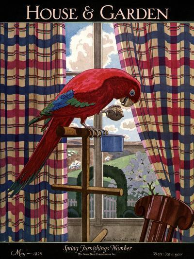 House & Garden Cover - May 1926-Pierre Brissaud-Premium Giclee Print