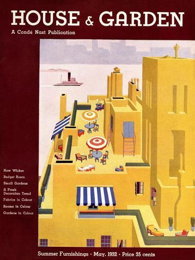 House & Garden Cover - May 1932-Bates Gilbert-Premium Giclee Print