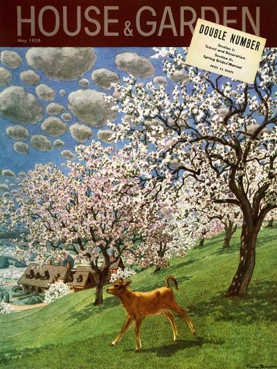 House & Garden Cover - May 1938-Pierre Brissaud-Premium Giclee Print