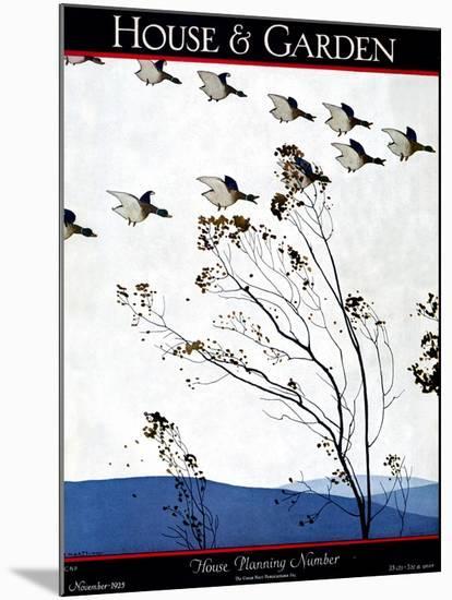 House & Garden Cover - November 1925-Andr? E. Marty-Mounted Premium Giclee Print