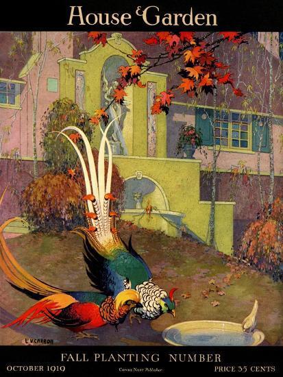 House & Garden Cover - October 1919-L. V. Carroll-Premium Giclee Print