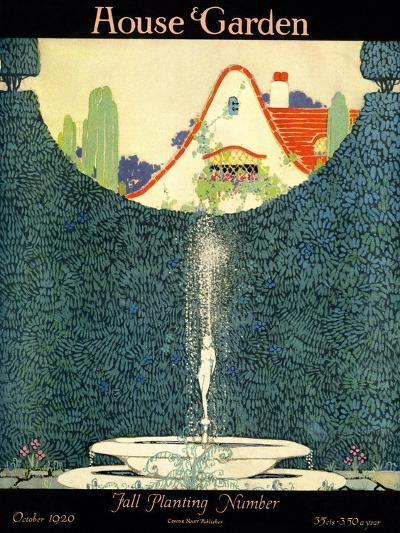 House & Garden Cover - October 1920-H. George Brandt-Premium Giclee Print