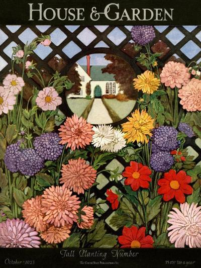 House & Garden Cover - October 1923-Ethel Franklin Betts Baines-Premium Giclee Print