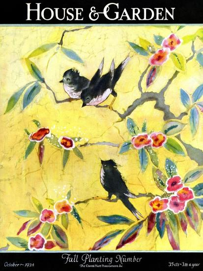 House & Garden Cover - October 1924-Leah Ramsay-Premium Giclee Print