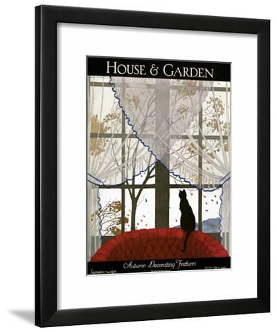 House & Garden Cover - September 1925-Marty Andr�\.-Framed Art Print