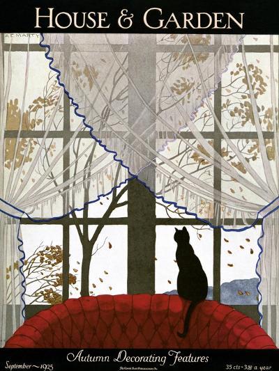 House & Garden Cover - September 1925-Andr? E. Marty-Premium Giclee Print