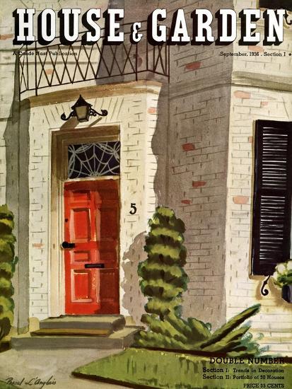 House & Garden Cover - September 1936-Pascal L'Anglais-Premium Giclee Print