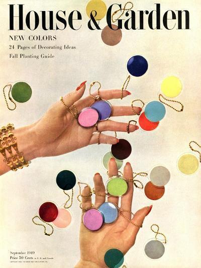 House & Garden Cover - September 1949-Herbert Matter-Premium Giclee Print