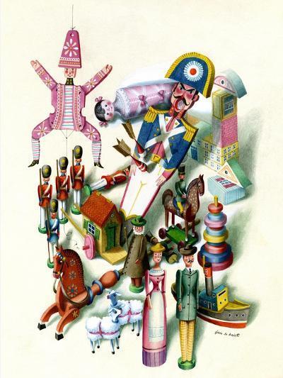 House & Garden - November 1944-Jan B. Balet-Premium Giclee Print