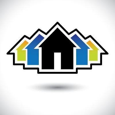 House (Home) And Residence Sign For Real Estate-smarnad-Art Print