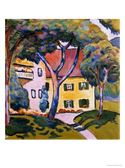 House in a Landscape-Auguste Macke-Giclee Print