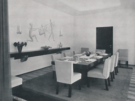 'House in Bucharest by Rudolf Frankel - The dining room', 1942-Unknown-Photographic Print