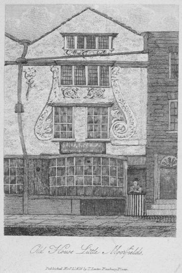 House in Moorfields, City of London, 1816--Giclee Print
