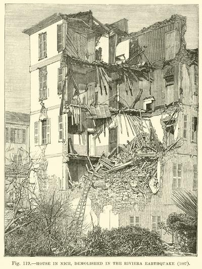 House in Nice, Demolished in the Riviera Earthquake, 1887--Giclee Print