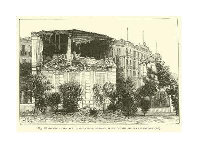 House in the Avenue De La Gare, Mentone, Ruined by the Riviera Earthquake, 1887--Giclee Print