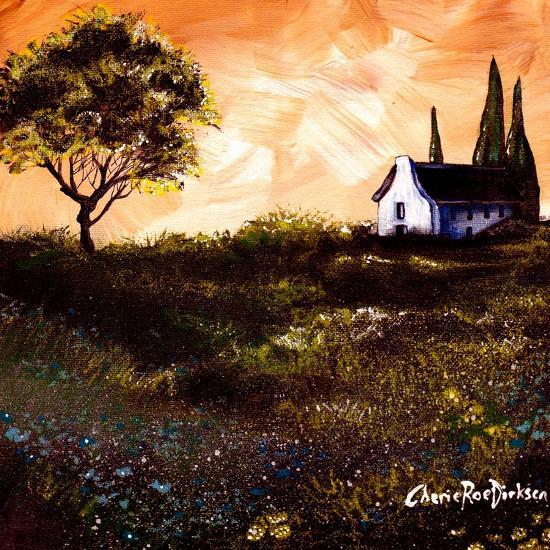 House in the Fields 1-Cherie Roe Dirksen-Giclee Print