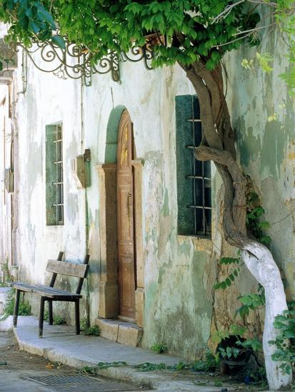 House in the village Vessa on Chios, Greece-Rainer Hackenberg-Photographic Print