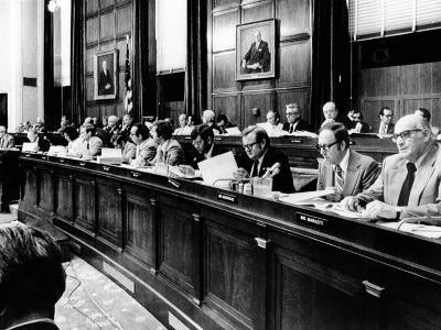 House Judiciary Committee in Deliberations Leading to Impeachment Vote of Pres Nixon, Jul 14, 1974--Photo
