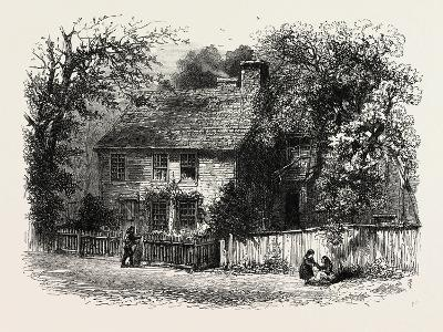 House Lately Standing at Providence, Said to Have Used for Prayer Meetings by Williams, USA, 1870S--Giclee Print