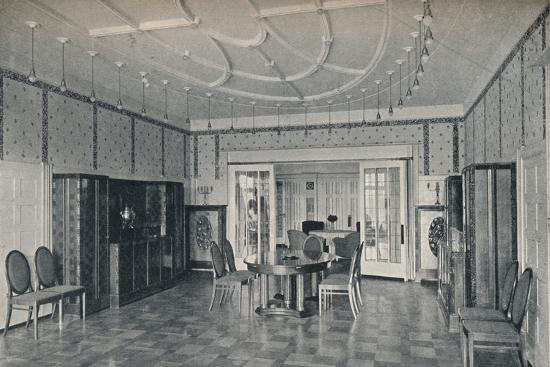 'House Near Bielefeld, The Dining Room', c1912-Unknown-Photographic Print