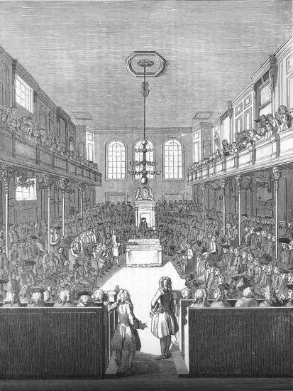 'House of Commons in the time of George II', 1845-Unknown-Giclee Print