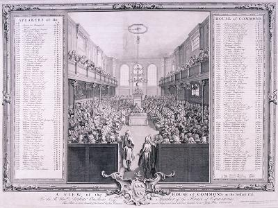 House of Commons, Palace of Westminster, London, 1785-John Pine-Giclee Print