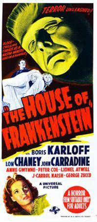 House of Frankenstein, Boris Karloff, Anne Gwynne, 1944