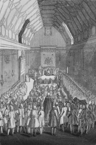 'House of Lords in the time of George II', 1845-Unknown-Giclee Print